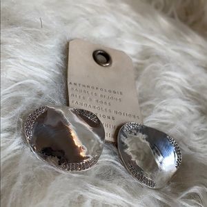 🆕NWT BHLDN handmade crystal detail mirrored studs